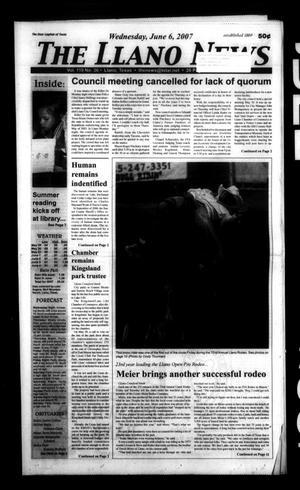The Llano News (Llano, Tex.), Vol. 119, No. 36, Ed. 1 Wednesday, June 6, 2007
