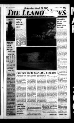 The Llano News (Llano, Tex.), Vol. 119, No. 26, Ed. 1 Wednesday, March 28, 2007