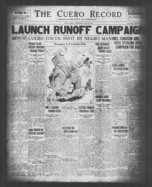 The Cuero Record (Cuero, Tex.), Vol. 36, No. 180, Ed. 1 Wednesday, July 30, 1930