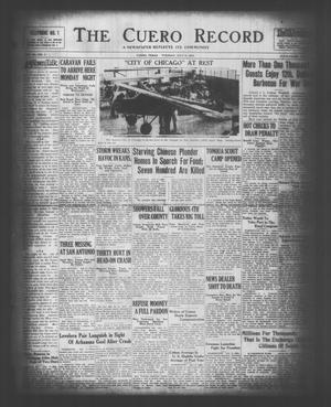 The Cuero Record (Cuero, Tex.), Vol. 36, No. 161, Ed. 1 Tuesday, July 8, 1930