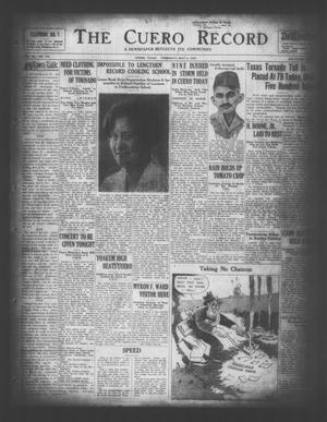 The Cuero Record (Cuero, Tex.), Vol. 36, No. 110, Ed. 1 Thursday, May 8, 1930