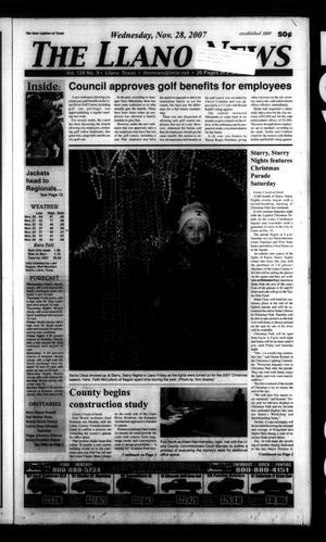 The Llano News (Llano, Tex.), Vol. 120, No. 9, Ed. 1 Wednesday, November 28, 2007