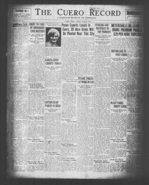 The Cuero Record (Cuero, Tex.), Vol. 36, No. 153, Ed. 1 Friday, June 27, 1930