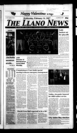 The Llano News (Llano, Tex.), Vol. 119, No. 20, Ed. 1 Wednesday, February 14, 2007