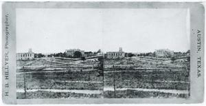 Primary view of object titled '[Governor's Mansion & Baptist Church]'.