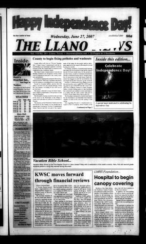The Llano News (Llano, Tex.), Vol. 119, No. 39, Ed. 1 Wednesday, June 27, 2007