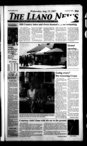 The Llano News (Llano, Tex.), Vol. 119, No. 46, Ed. 1 Wednesday, August 15, 2007