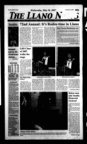 The Llano News (Llano, Tex.), Vol. 119, No. 35, Ed. 1 Wednesday, May 30, 2007