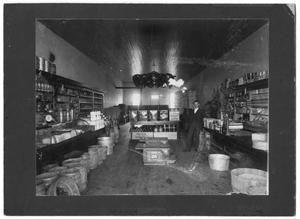 Primary view of object titled 'Interior of Leverett Grocery'.