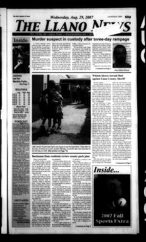 The Llano News (Llano, Tex.), Vol. 119, No. 48, Ed. 1 Wednesday, August 29, 2007