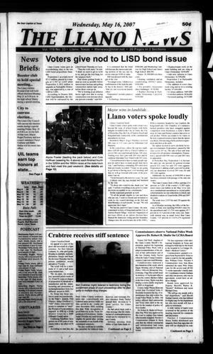 The Llano News (Llano, Tex.), Vol. 119, No. 33, Ed. 1 Wednesday, May 16, 2007