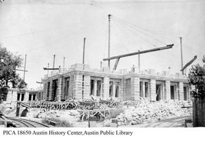 Primary view of object titled '[Early Phase of Capital Building Construction]'.