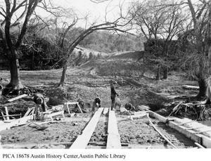 Primary view of Lohman's Crossing Bridge Construction