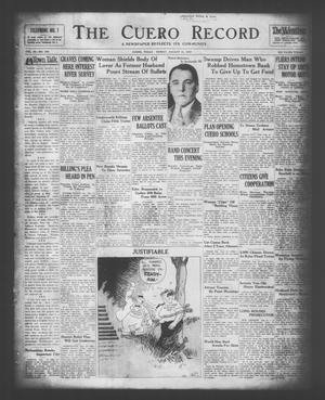 Primary view of The Cuero Record (Cuero, Tex.), Vol. 36, No. 194, Ed. 1 Friday, August 15, 1930