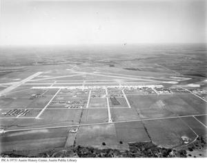 Primary view of object titled 'Bergstrom Air Force Base [aerial view]'.