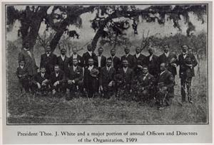 Primary view of object titled '[Officers and Directors of Emancipation Park Association, 1909]'.