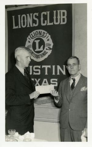 Primary view of object titled '[City of Austin Takes Municipal Golf Course Deed]'.