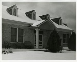 Primary view of Club house at Municipal Golf Course [in snow]