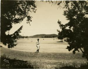Primary view of [Golfers on the green at Municipal Golf Course]