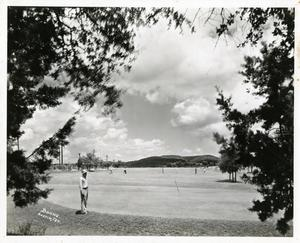 Primary view of [View of the green from trees on Austin Municipal Golf Course]