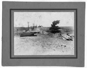Primary view of object titled '[Z. Wiggs' Crew Building a Bridge]'.