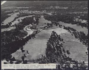 Primary view of object titled 'Aerial view of Municipal Golf Course'.