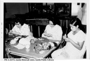 Primary view of object titled '[Women crocheting]'.