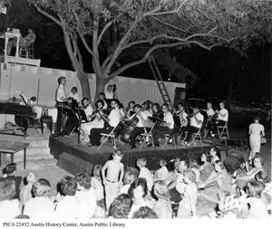 Primary view of object titled '[Wildcat Orchestra at Zilker Hillside Theater]'.