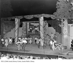 Primary view of object titled '[Brigadoon performance at the Zilker Hillside Theater]'.