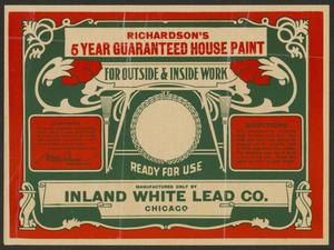 Primary view of [Richardson's House Paint Advertisement]