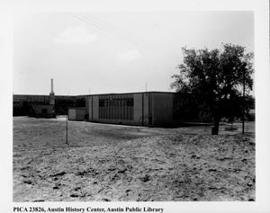 Primary view of object titled '[Pan American Recreation Center, exterior, at opening]'.