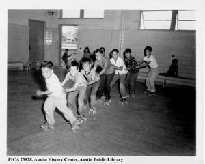 Primary view of object titled 'Pan American Recreation Center's Skating Class'.
