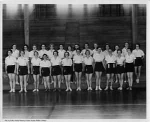 Primary view of object titled '[Women's gym class at the Austin Athletic Club]'.