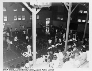 Primary view of object titled 'Inter-playground table tennis tournament at Austin Athletic Center'.