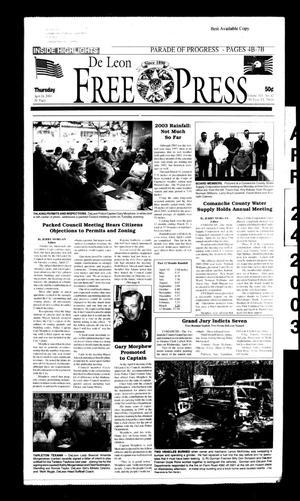 De Leon Free Press (De Leon, Tex.), Vol. 113, No. 42, Ed. 1 Thursday, April 24, 2003