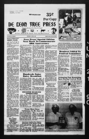 De Leon Free Press (De Leon, Tex.), Vol. 103, No. 3, Ed. 1 Thursday, June 21, 1990