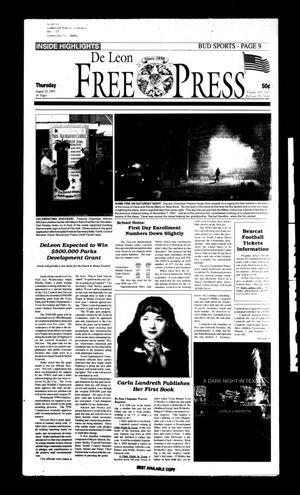 De Leon Free Press (De Leon, Tex.), Vol. 113, No. 8, Ed. 1 Thursday, August 22, 2002