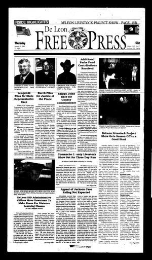 De Leon Free Press (De Leon, Tex.), Vol. 112, No. 27, Ed. 1 Thursday, January 10, 2002