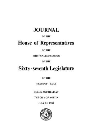 Primary view of object titled 'Journal of the House of Representatives of the Sixty-Seventh Legislature of the State of Texas, Volume 4'.