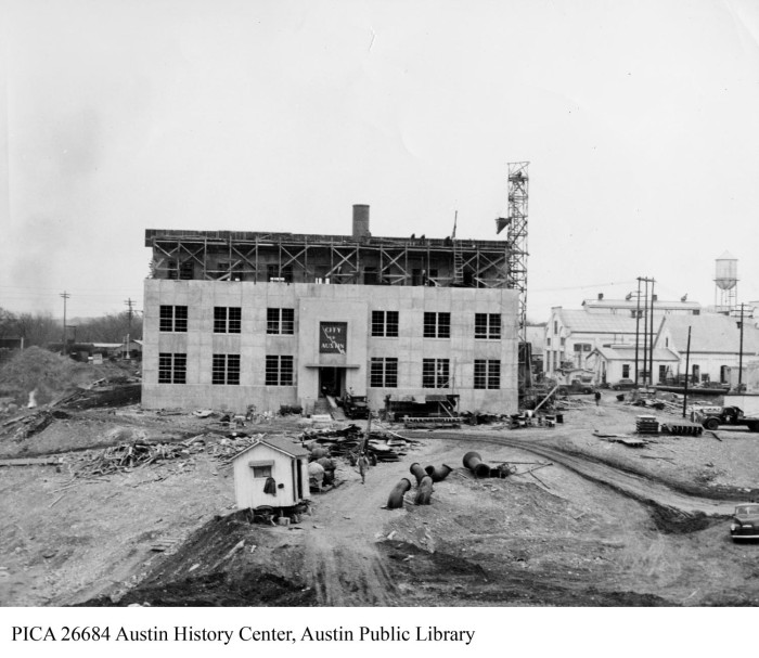 Seaholm Power Plant boiler room construction] - The Portal to Texas ...