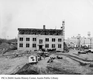 Primary view of [Seaholm Power Plant boiler room construction]