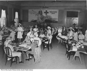 Primary view of object titled '[Red Cross Nurses Preparing Supplies]'.