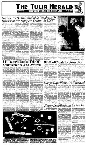 The Tulia Herald (Tulia, Tex.), Vol. 99, No. 32, Ed. 1 Thursday, August 9, 2007