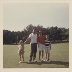 Primary view of object titled '[Austin Women's Public Links Golf Association golfer and family at Municipal Golf Course]'.