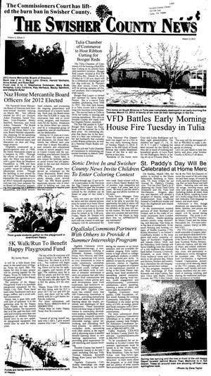 The Swisher County News (Tulia, Tex.), Vol. 4, No. 11, Ed. 1 Thursday, March 15, 2012