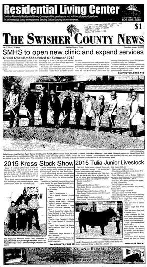 The Swisher County News (Tulia, Tex.), Vol. 7, No. 4, Ed. 1 Thursday, January 22, 2015