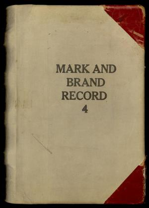 Travis County Clerk Records: Marks and Brands Record 4