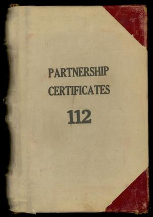 Primary view of Travis County Deed Records: Deed Record 112 - Partnership Certificates
