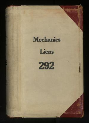Travis County Deed Records: Deed Record 292 - Mechanics Liens