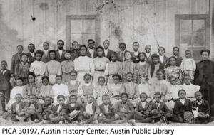 Primary view of object titled '[Students at Brackenridge Elementary School]'.